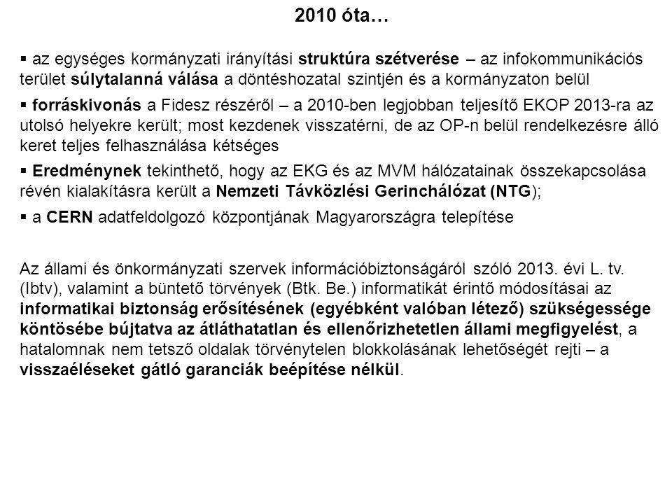 2010 óta…