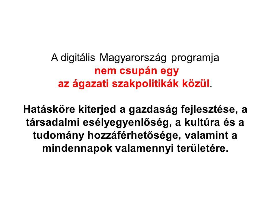 A digitális Magyarország programja nem csupán egy