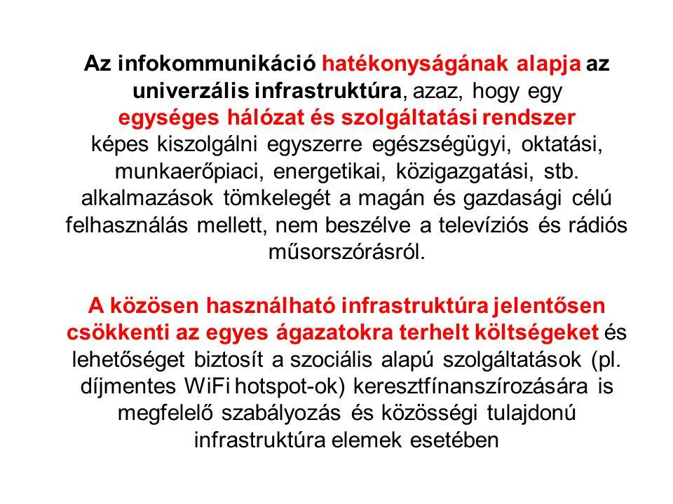 egységes hálózat és szolgáltatási rendszer