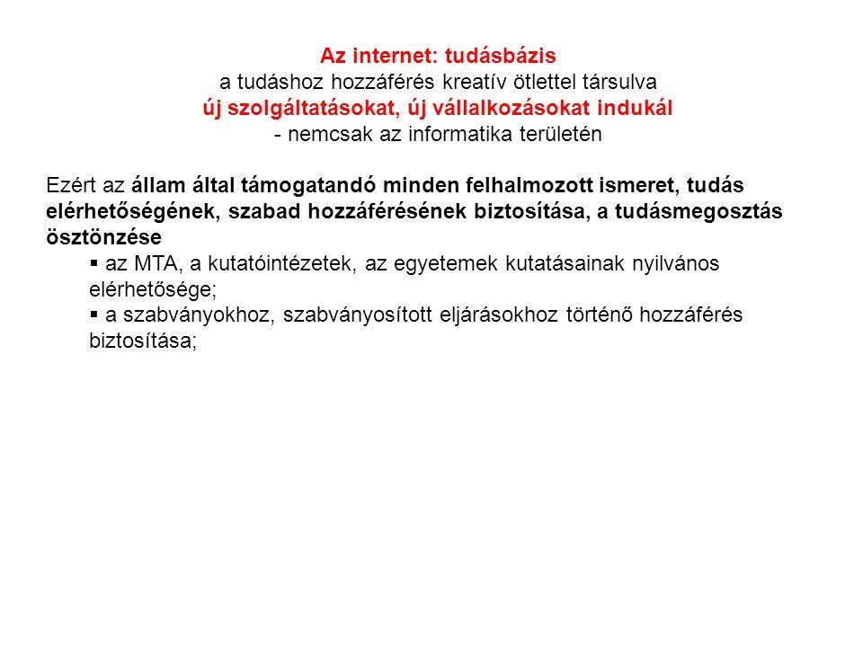 Az internet: tudásbázis