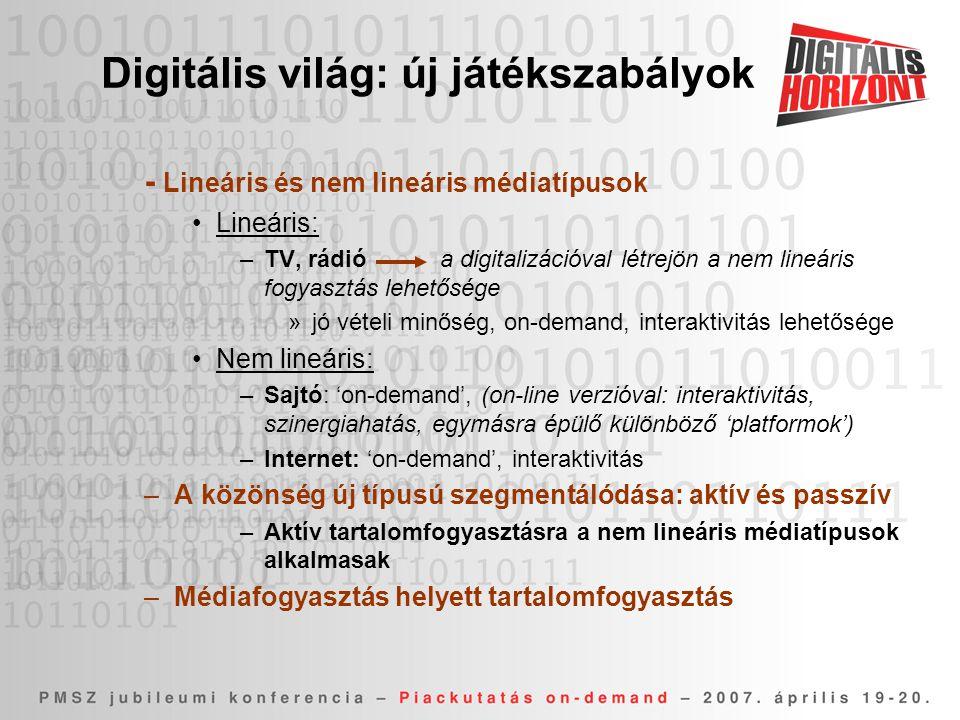Digitális világ: új játékszabályok