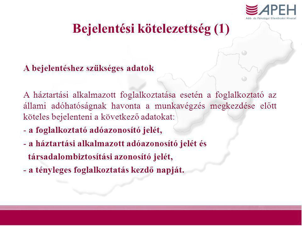 Bejelentési kötelezettség (1)