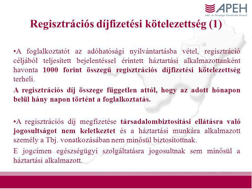 Regisztrációs díjfizetési kötelezettség (1)