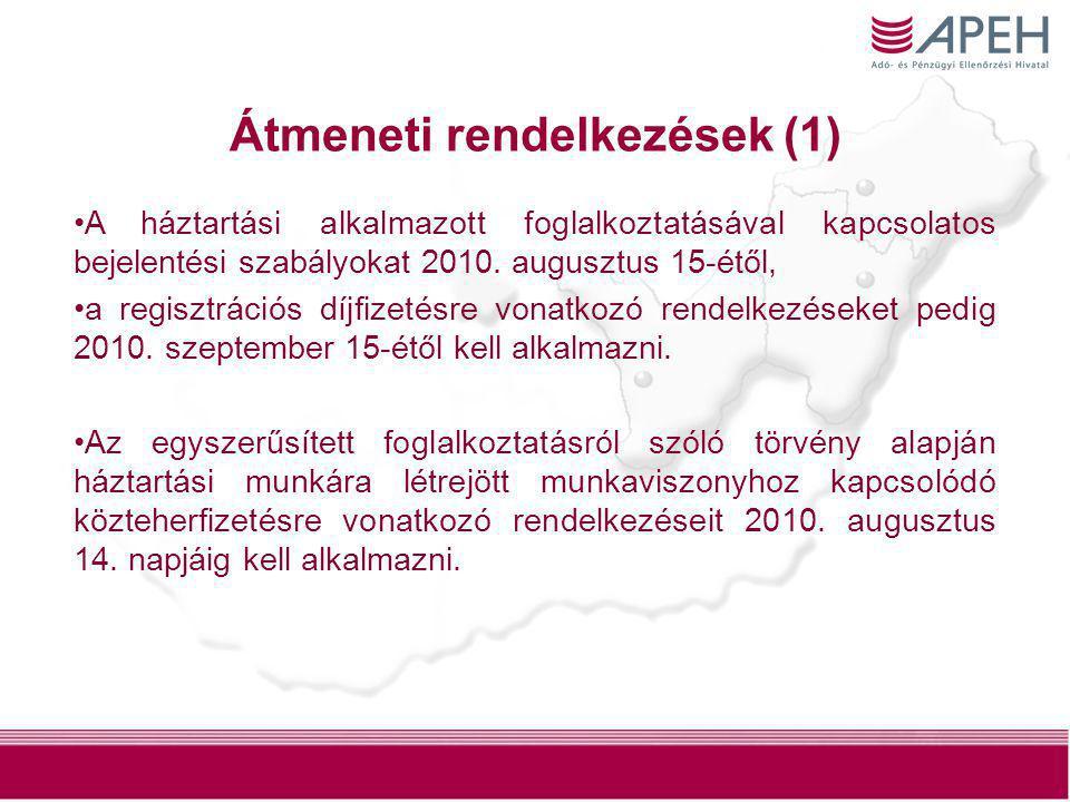 Átmeneti rendelkezések (1)