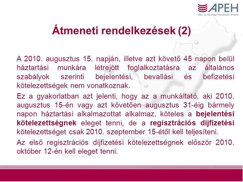 Átmeneti rendelkezések (2)