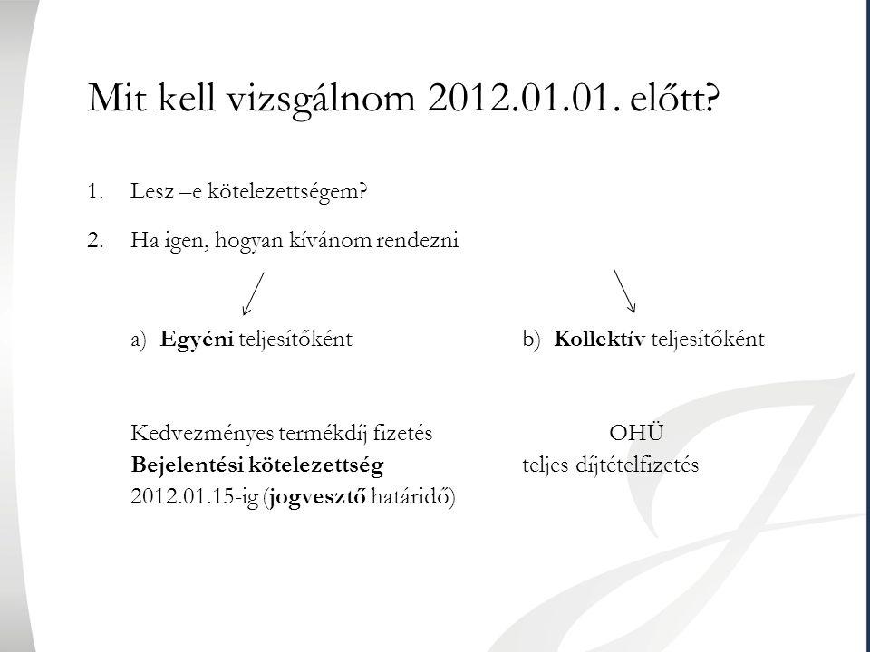 Mit kell vizsgálnom 2012.01.01. előtt