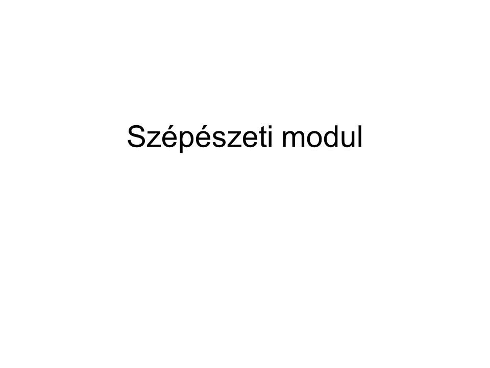 Szépészeti modul