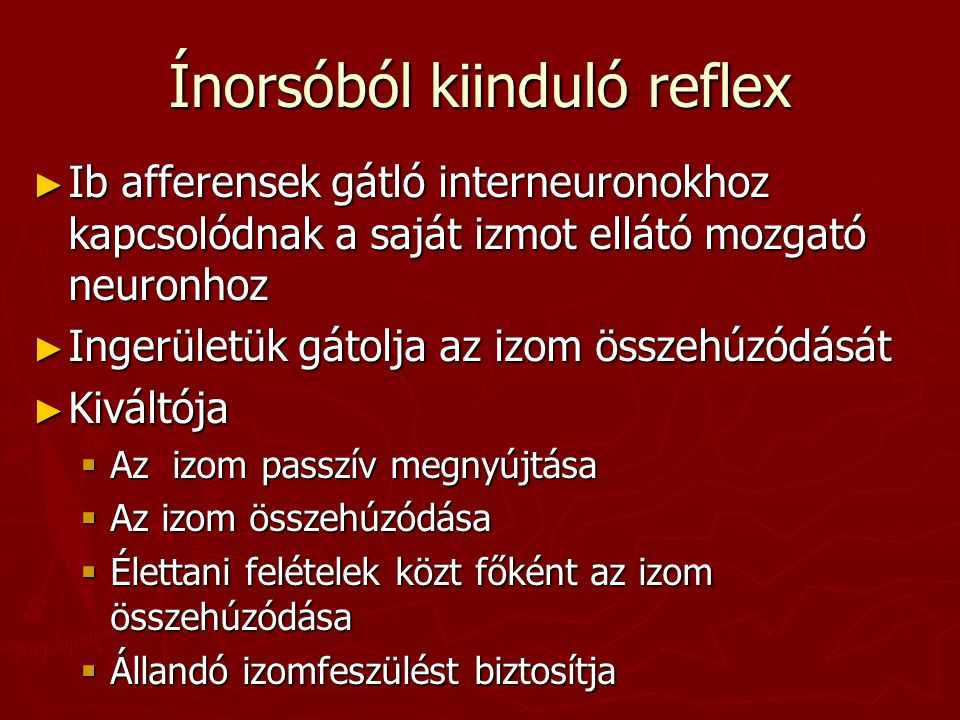 Ínorsóból kiinduló reflex