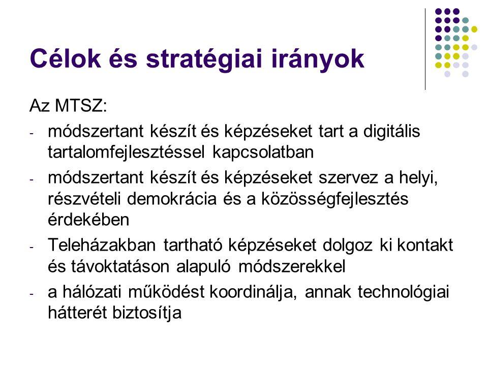 Célok és stratégiai irányok