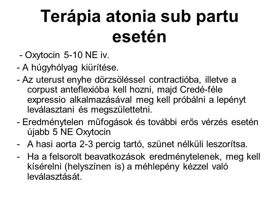 Terápia atonia sub partu esetén