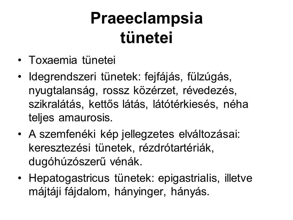 Praeeclampsia tünetei