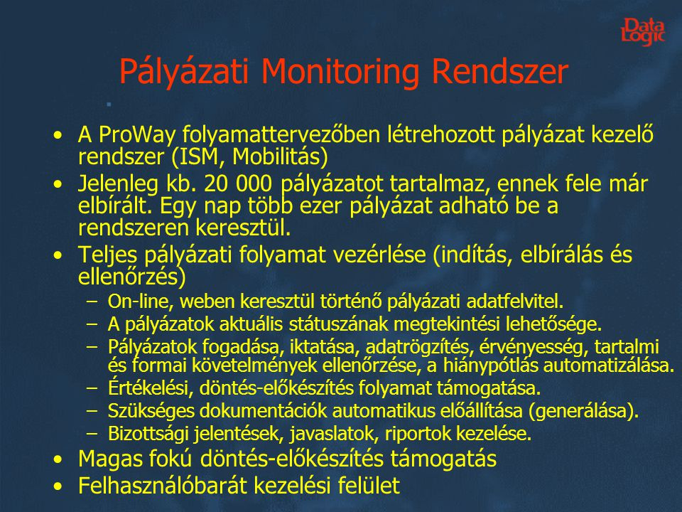 Pályázati Monitoring Rendszer