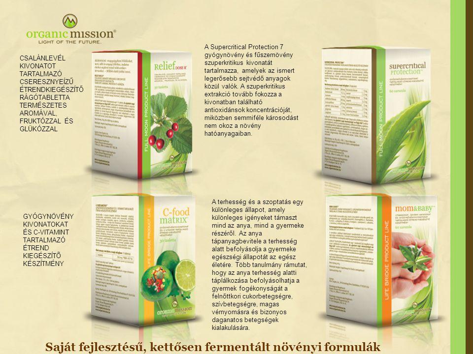 Saját fejlesztésű, kettősen fermentált növényi formulák