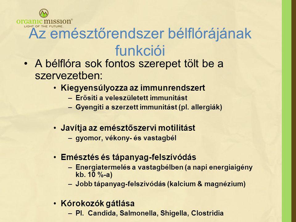 Az emésztőrendszer bélflórájának funkciói