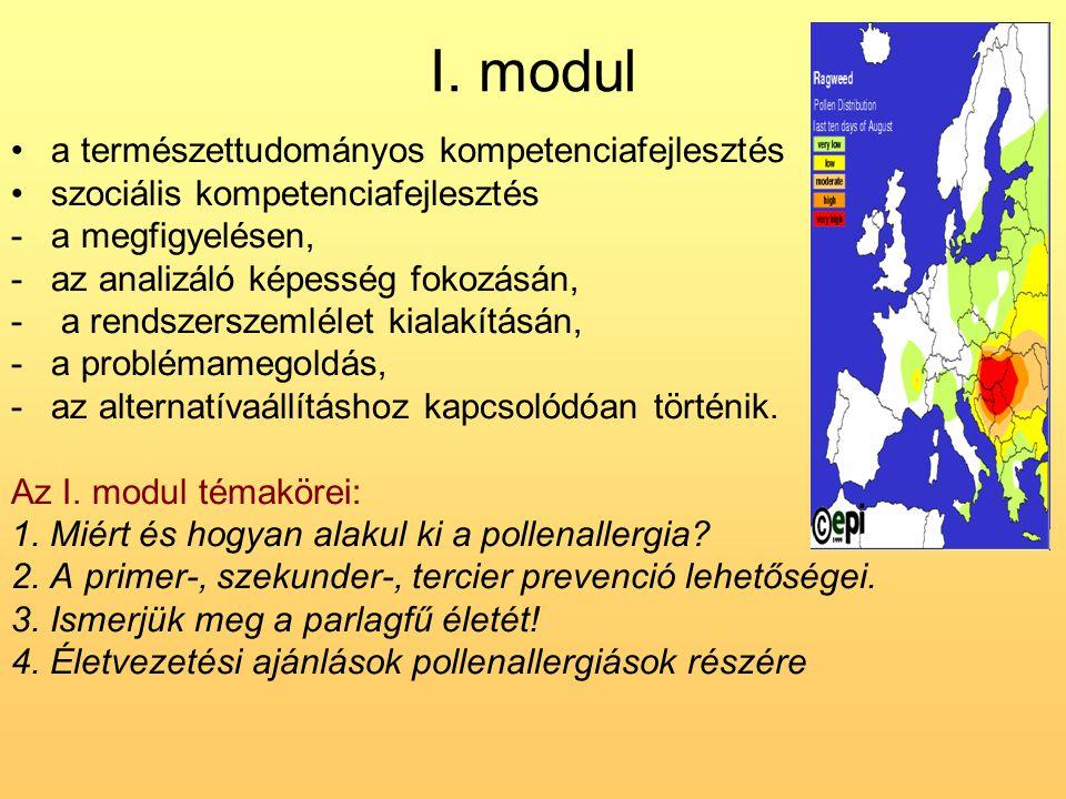 I. modul a természettudományos kompetenciafejlesztés