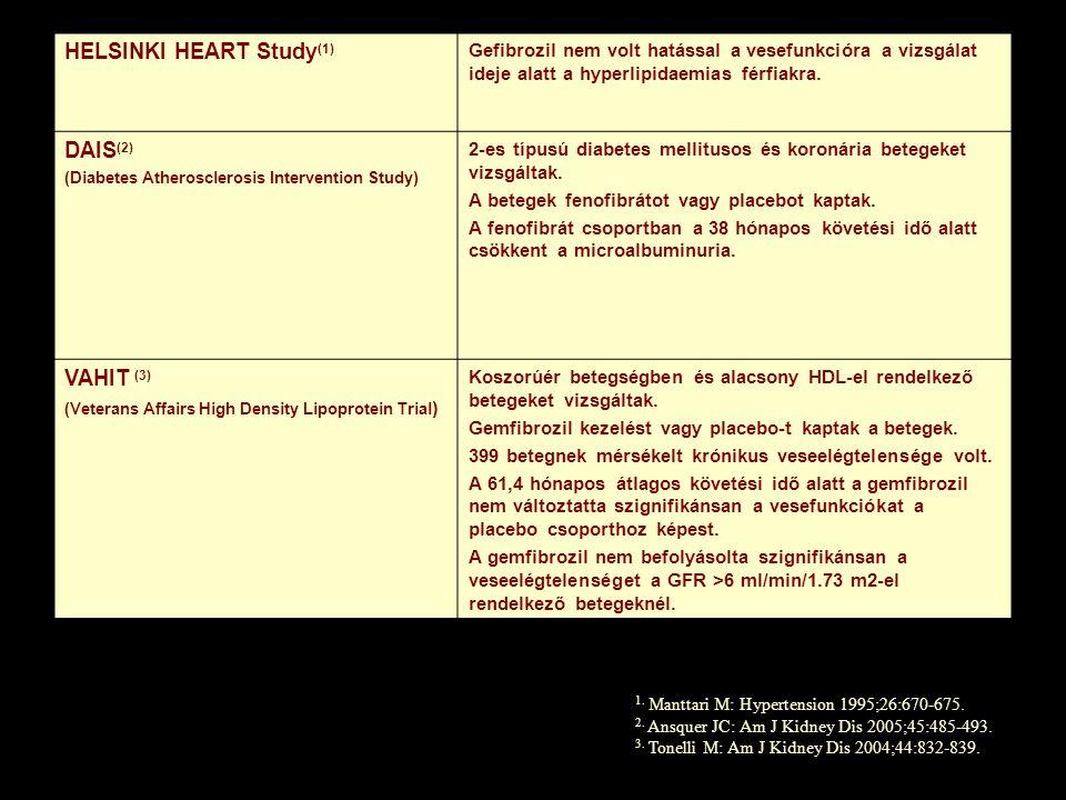 HELSINKI HEART Study(1)