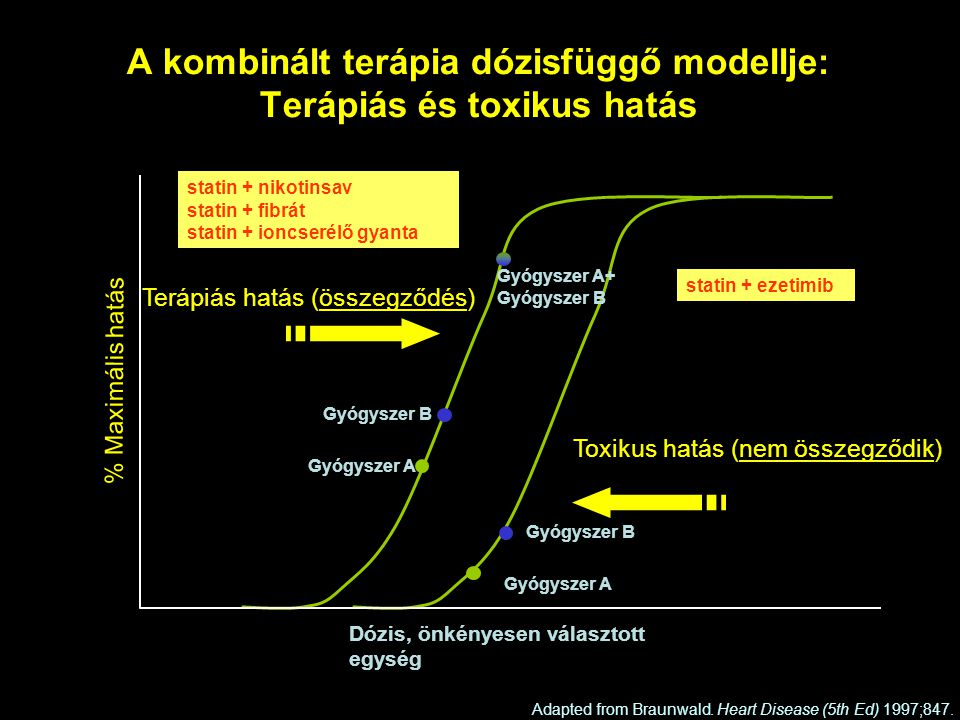 A kombinált terápia dózisfüggő modellje: Terápiás és toxikus hatás