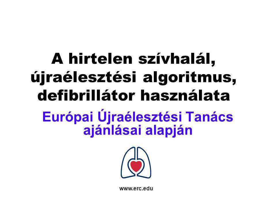 Európai Újraélesztési Tanács ajánlásai alapján