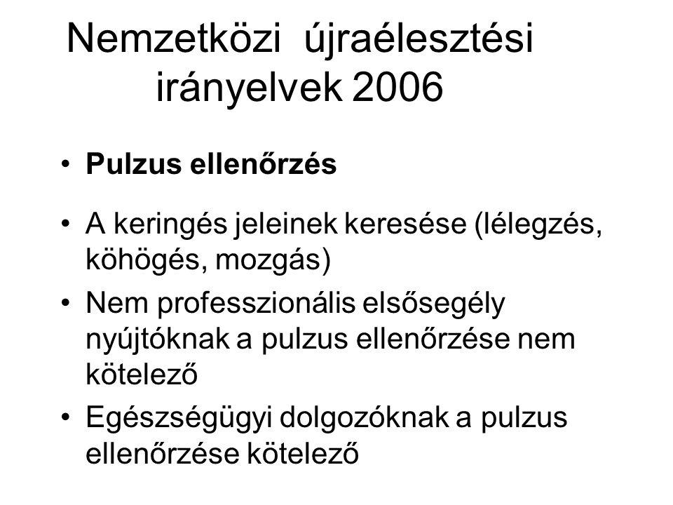 Nemzetközi újraélesztési irányelvek 2006