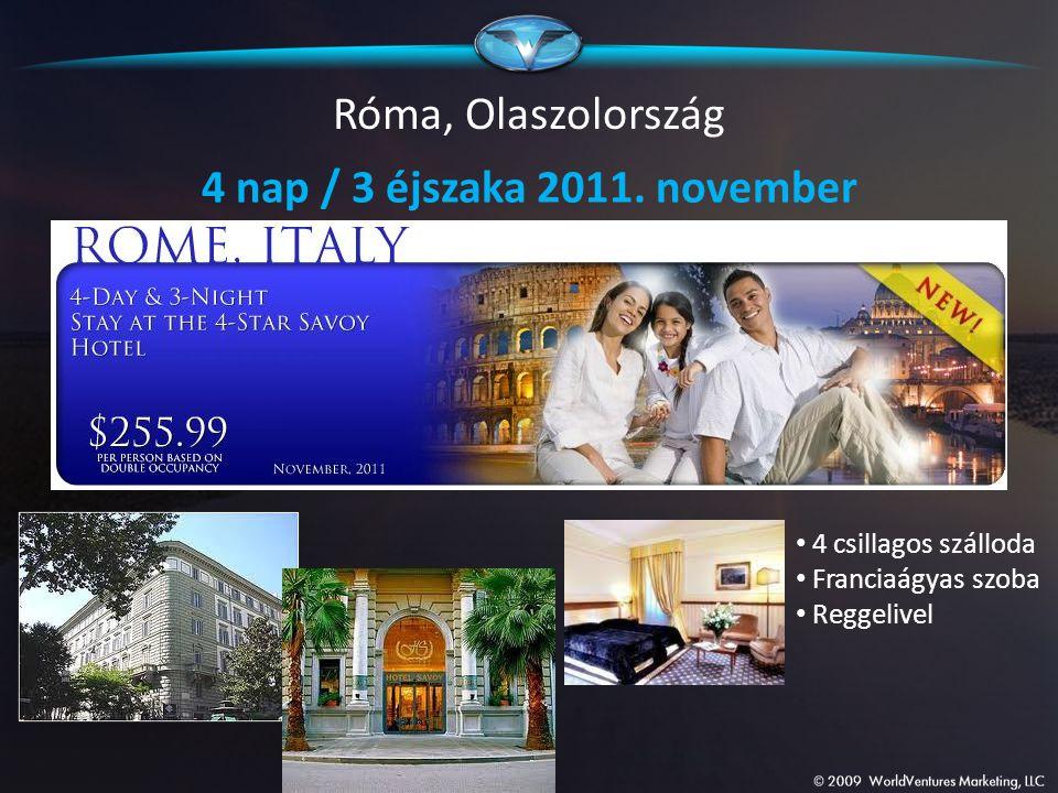 Róma, Olaszolország 4 nap / 3 éjszaka 2011. november