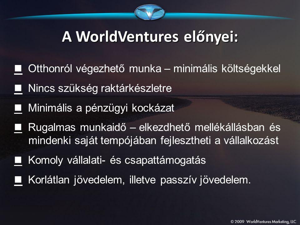 A WorldVentures előnyei: