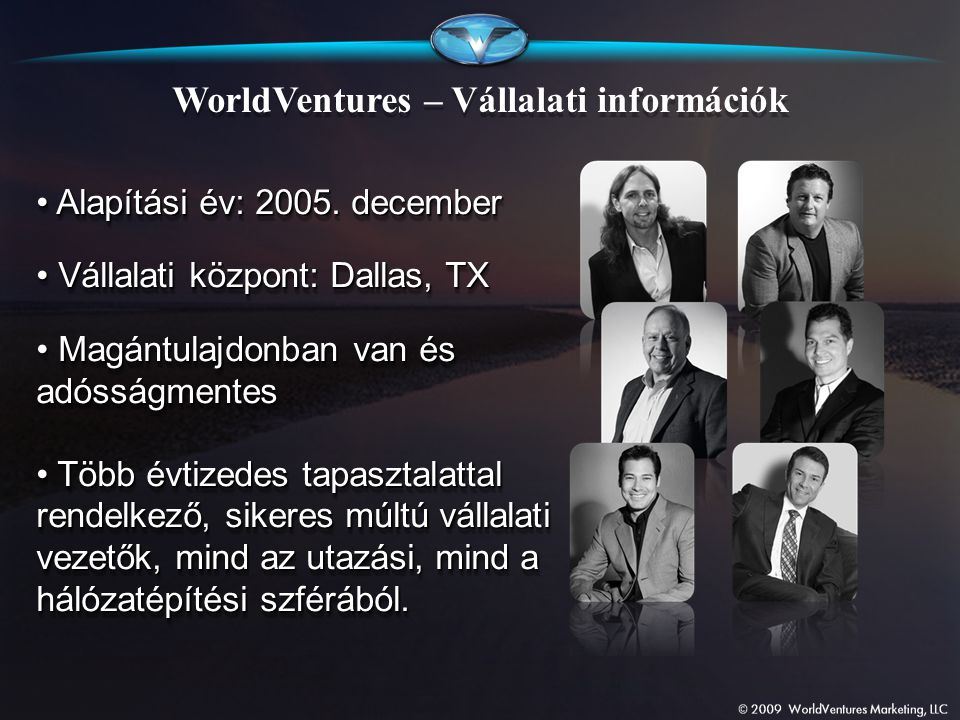 WorldVentures – Vállalati információk