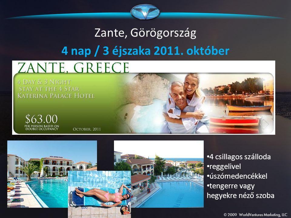 Zante, Görögország 4 nap / 3 éjszaka 2011. október