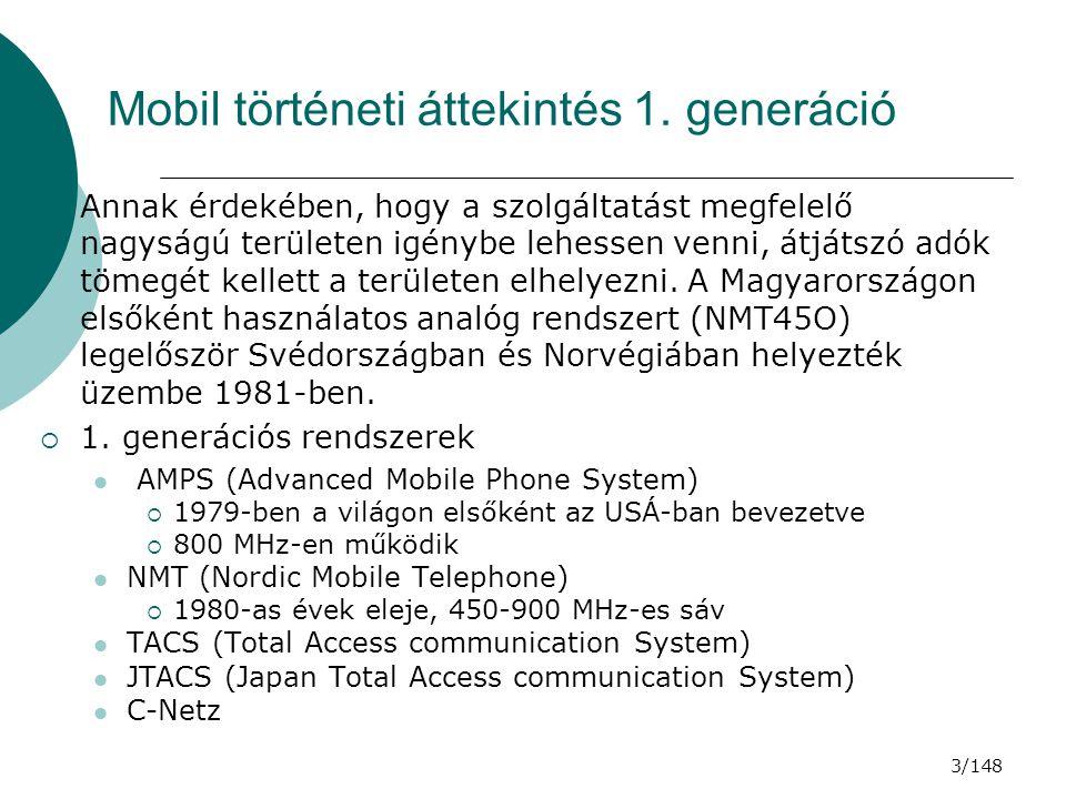 Mobil történeti áttekintés 1. generáció