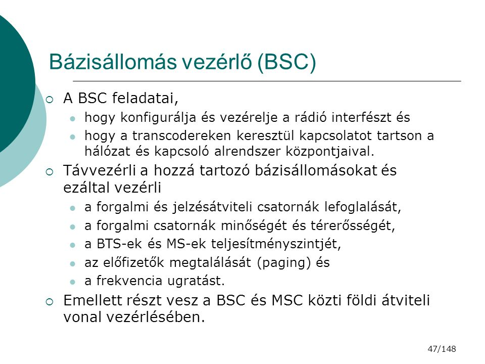 Bázisállomás vezérlő (BSC)