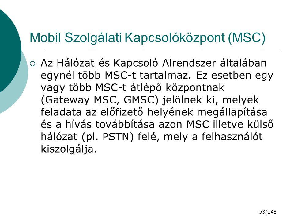 Mobil Szolgálati Kapcsolóközpont (MSC)