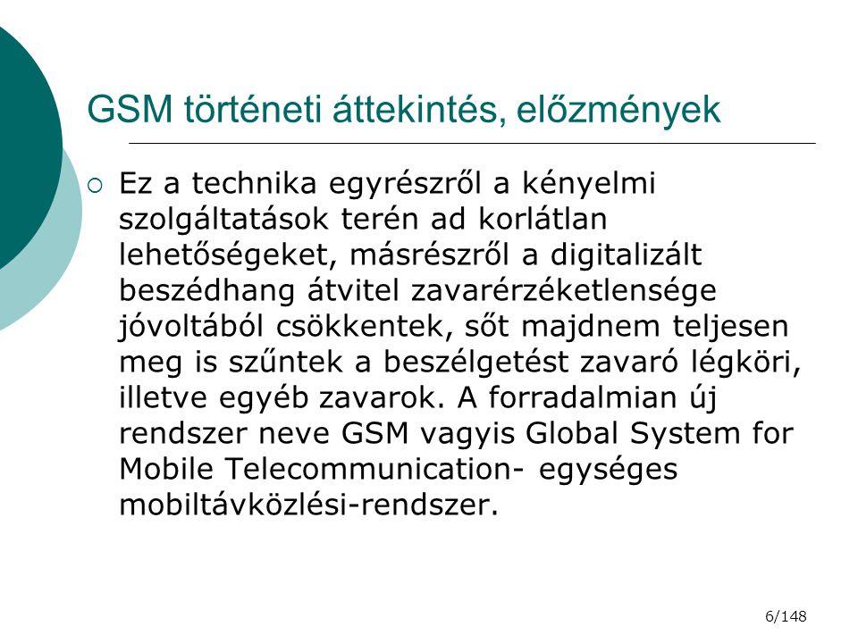 GSM történeti áttekintés, előzmények