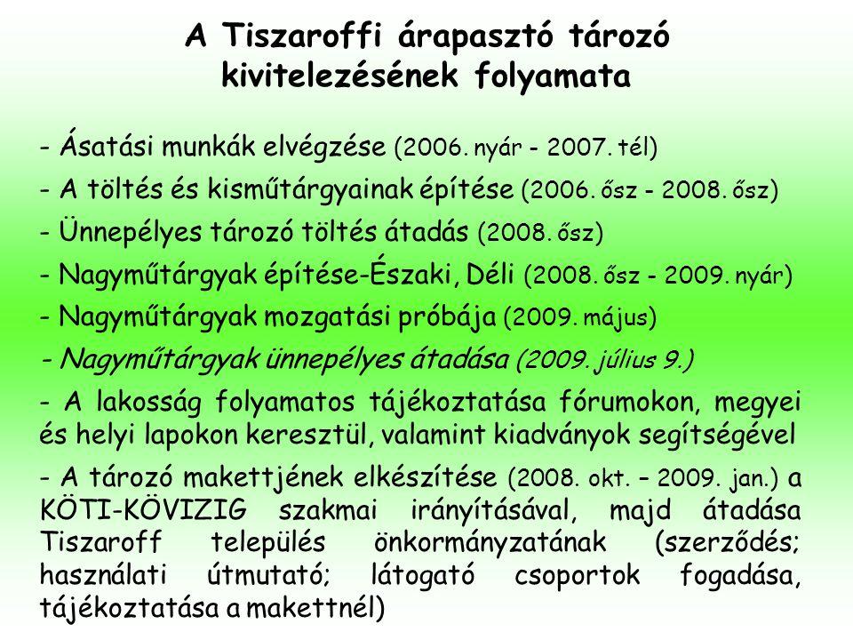 A Tiszaroffi árapasztó tározó kivitelezésének folyamata