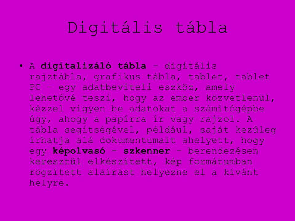 Digitális tábla