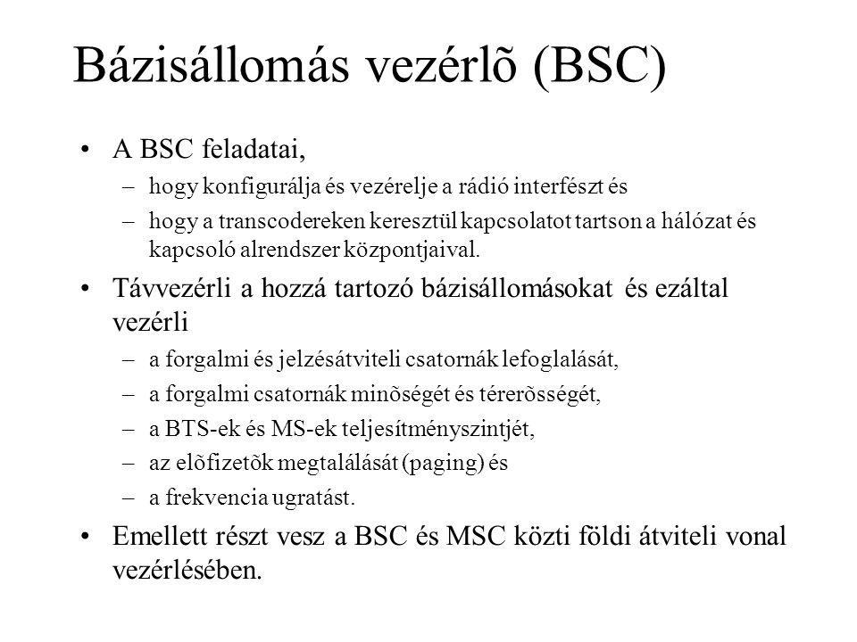 Bázisállomás vezérlõ (BSC)