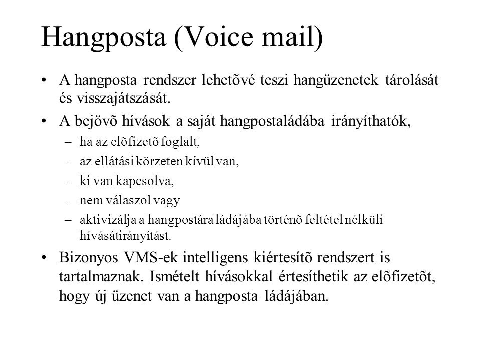 Hangposta (Voice mail)