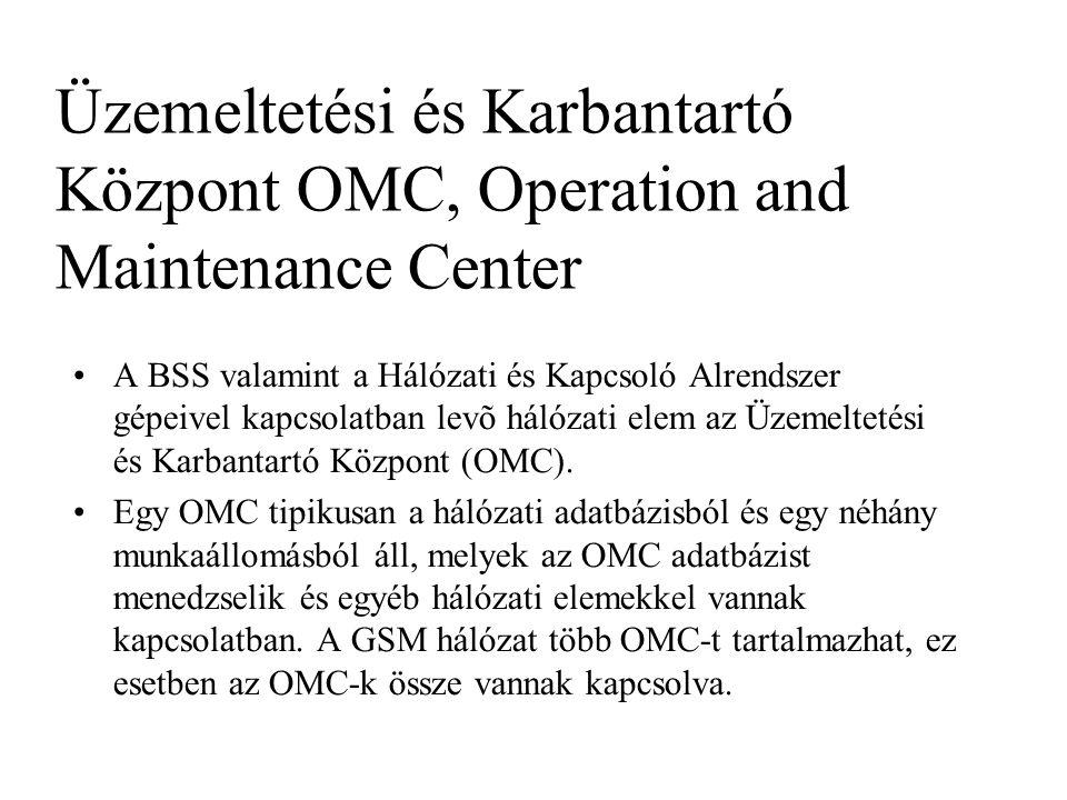 Üzemeltetési és Karbantartó Központ OMC, Operation and Maintenance Center