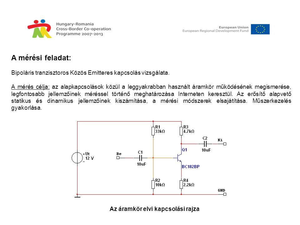 Az áramkör elvi kapcsolási rajza