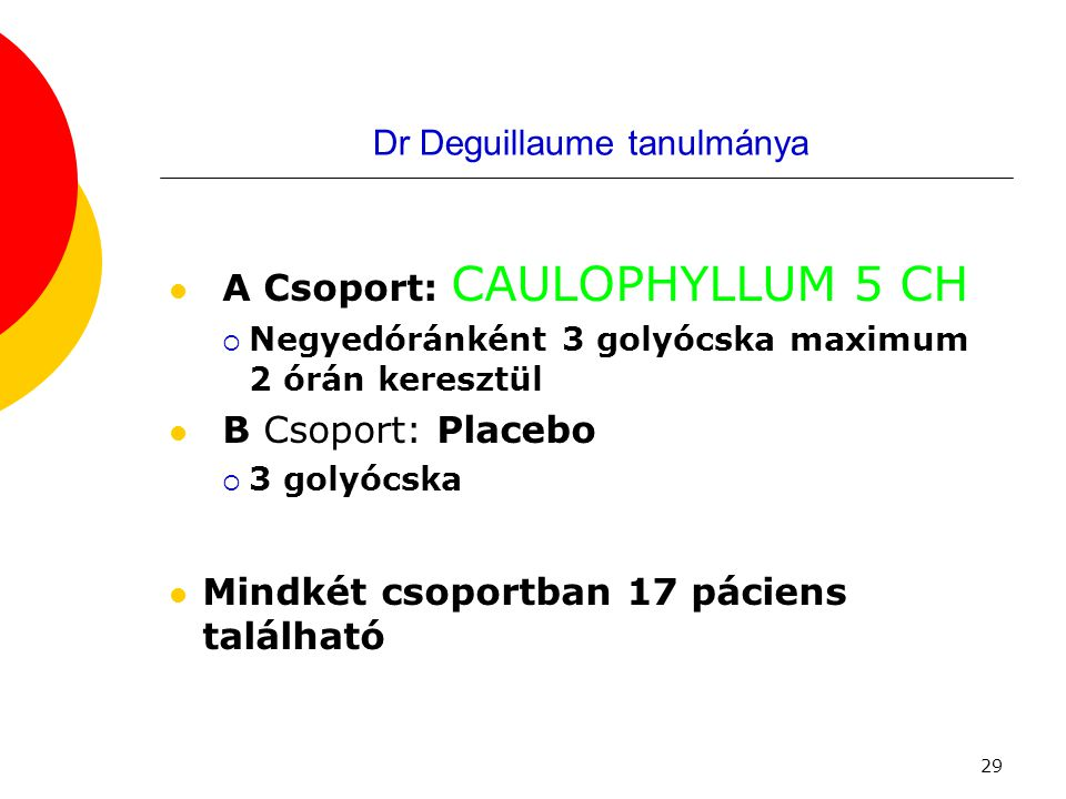 Dr Deguillaume tanulmánya