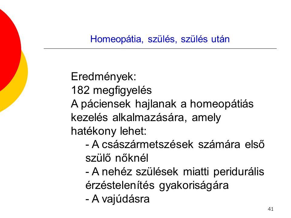 Homeopátia, szülés, szülés után