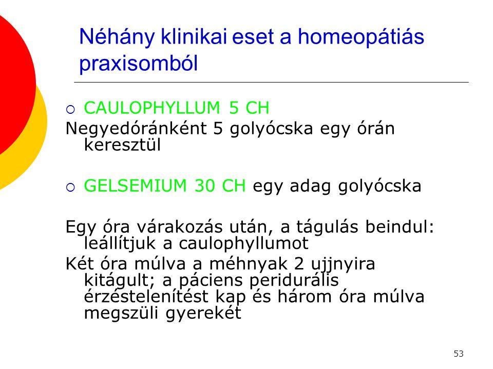 Néhány klinikai eset a homeopátiás praxisomból