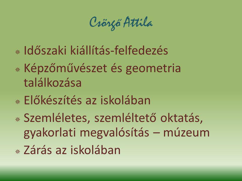 Csörgő Attila Időszaki kiállítás-felfedezés