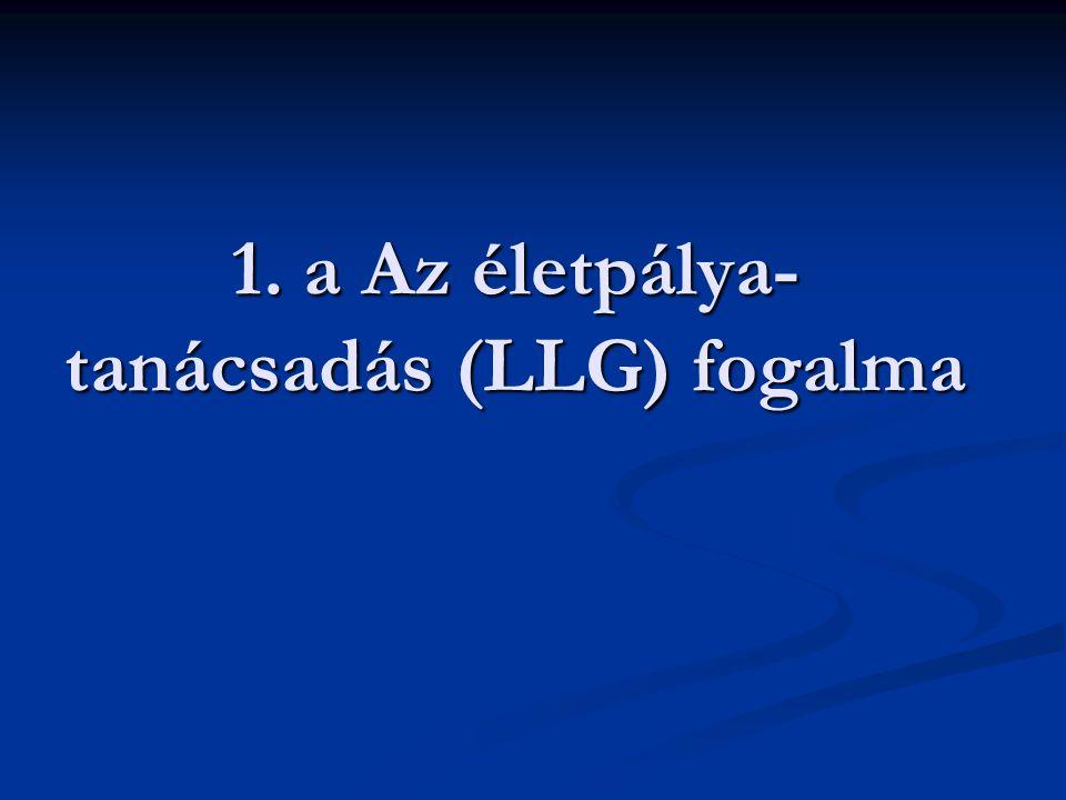 1. a Az életpálya-tanácsadás (LLG) fogalma