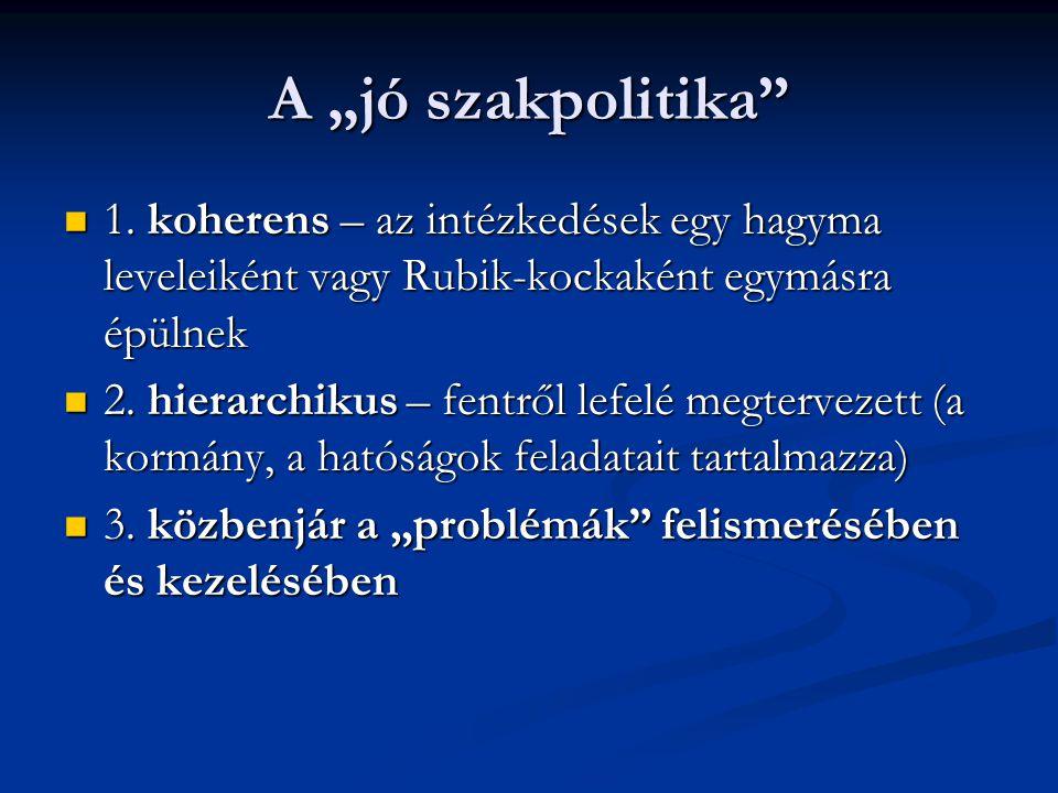 """A """"jó szakpolitika 1. koherens – az intézkedések egy hagyma leveleiként vagy Rubik-kockaként egymásra épülnek."""