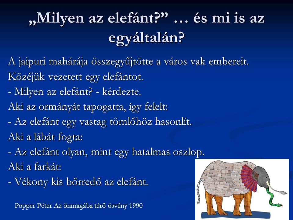 """""""Milyen az elefánt … és mi is az egyáltalán"""