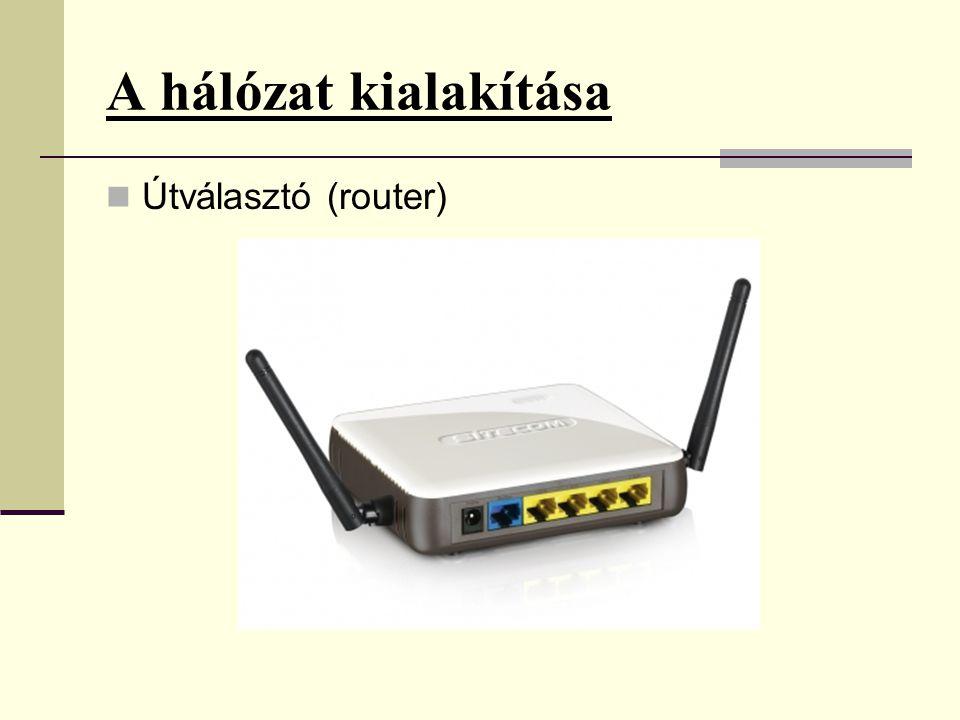 A hálózat kialakítása Útválasztó (router)