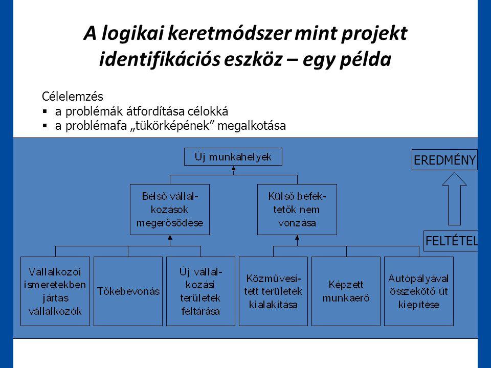 A logikai keretmódszer mint projekt identifikációs eszköz – egy példa