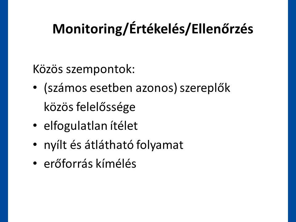 Monitoring/Értékelés/Ellenőrzés