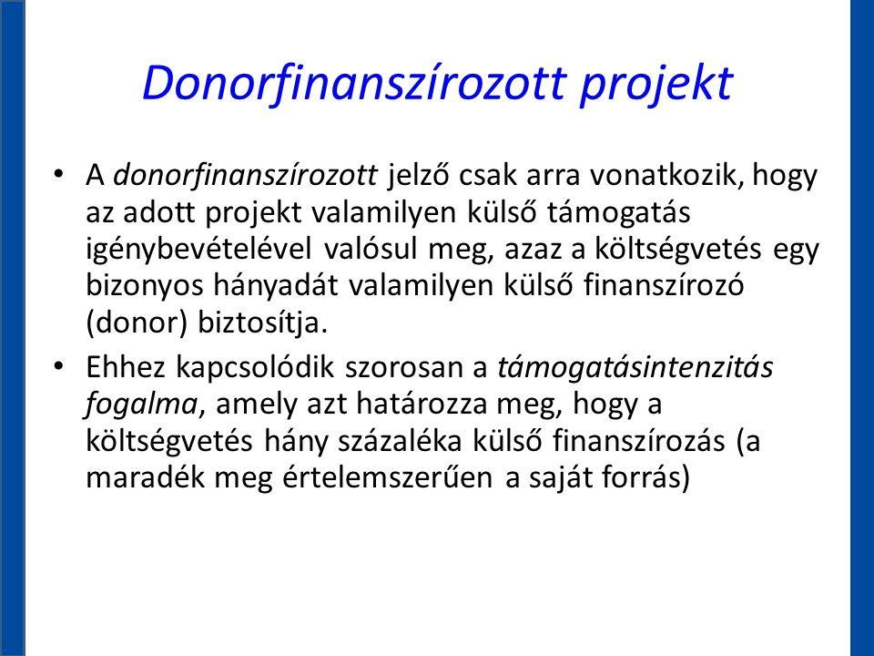 Donorfinanszírozott projekt