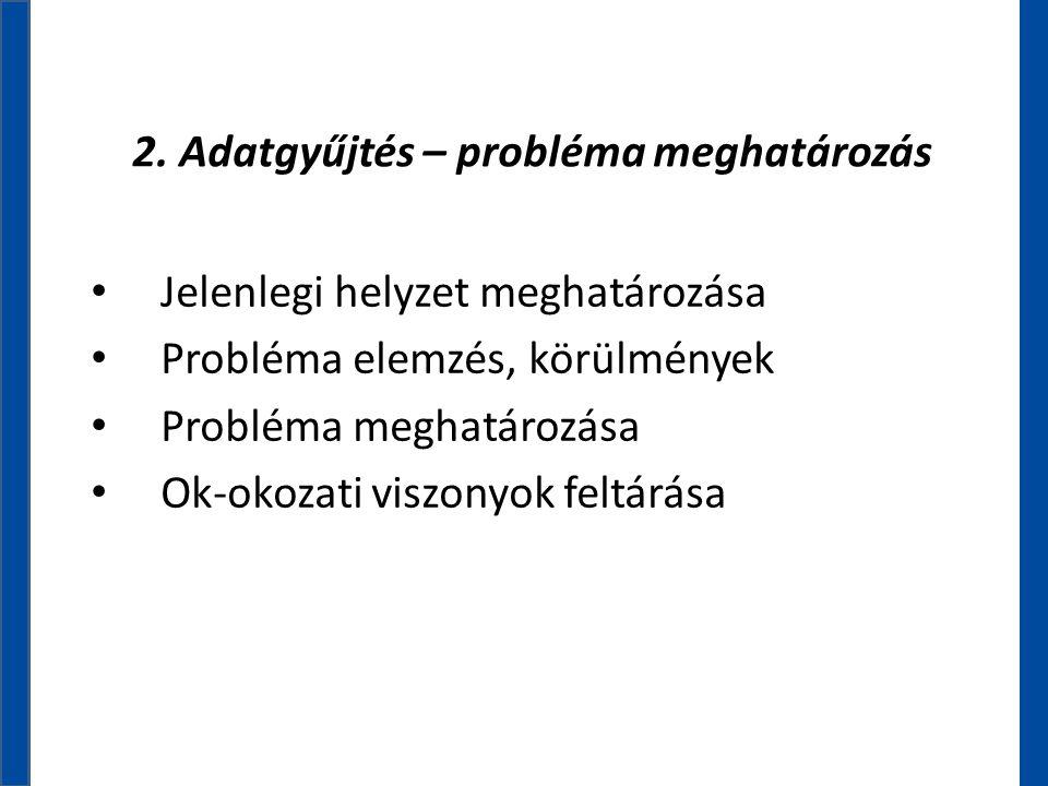 2. Adatgyűjtés – probléma meghatározás