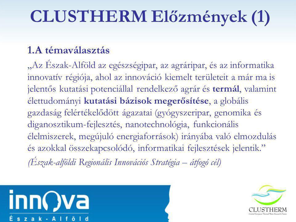 CLUSTHERM Előzmények (1)